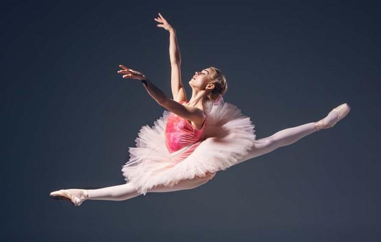 Explore Lakewood Ranch Ballet dancer jumping in pink tutu