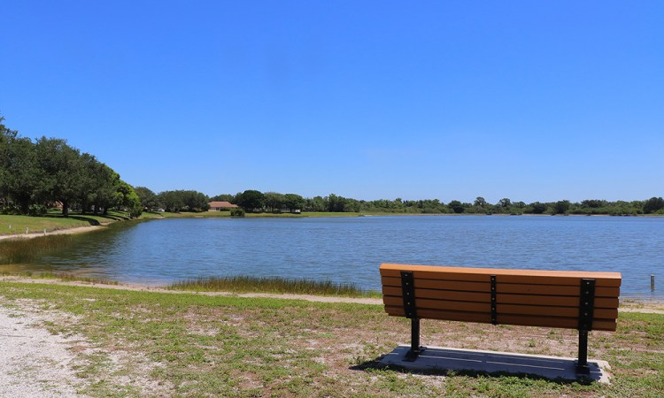 Heron's Nest Nature Park at Lakewood Ranch in Summerfield lakefront view