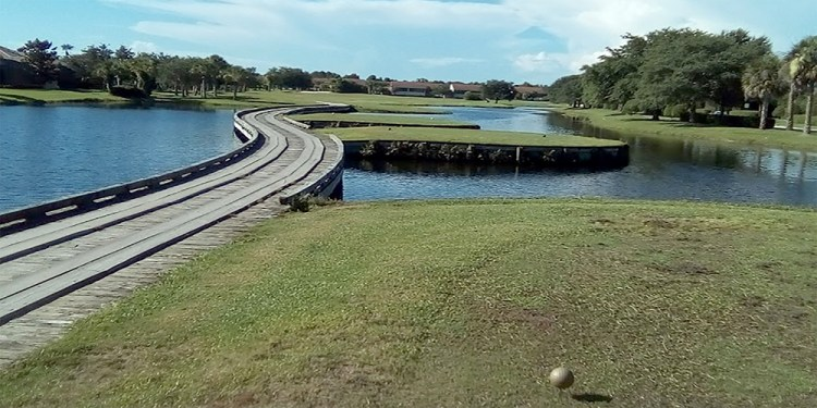 The trail at the Preserve Golf Course