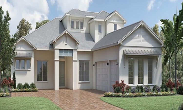 The Isles at Lakewood Ranch two story home front exterior