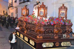 Nazarenos en verde el miercoles santo Vejer de la frontera, Cádiz, Spain Explore la Tierra Semana santa easter week Con el paso de Jesus procession