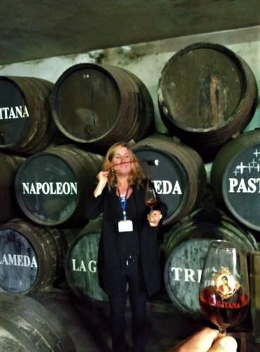 Sherry venencia Hidalgo cellar