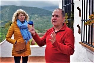 Olive oil tour tasting with our guide Luis in white village Zahara de la Sierra Cadiz