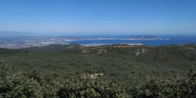 vistas de gibraltar desde los alcornocales Cádiz provincia
