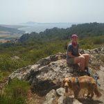 ruta senderismo en el parque natural el estrecho Cadiz vistas de Tarifa y Marruecos Africa
