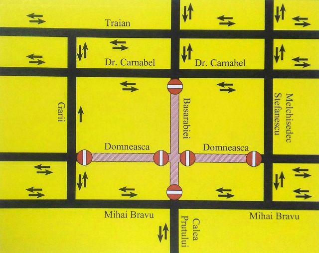 Restricții de trafic: primăria municipiului Galați informează că, în perioada 29 martie 2019 (ora 22.00) – 01 aprilie 2019 (ora 04.00), se va închide circulația rutieră pe strada Domnească
