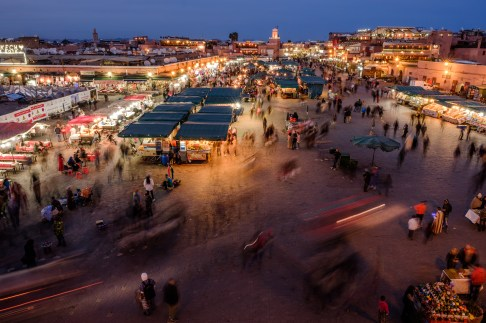 The beating heart of the souqs in Marrakesh