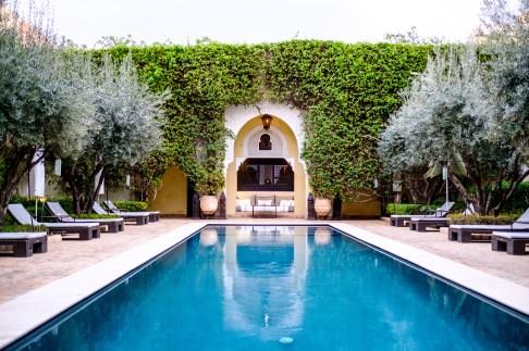 Der Riad Villa des Orangers verfügt über drei verschiedene Swimmingpools. Einer davon ist auf dem Dach!