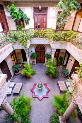 Einer der schönsten Innenhöfe die ich jeh sehen durfte. Sehr gepflegt steht dieser Brunnen inmitten der Riad