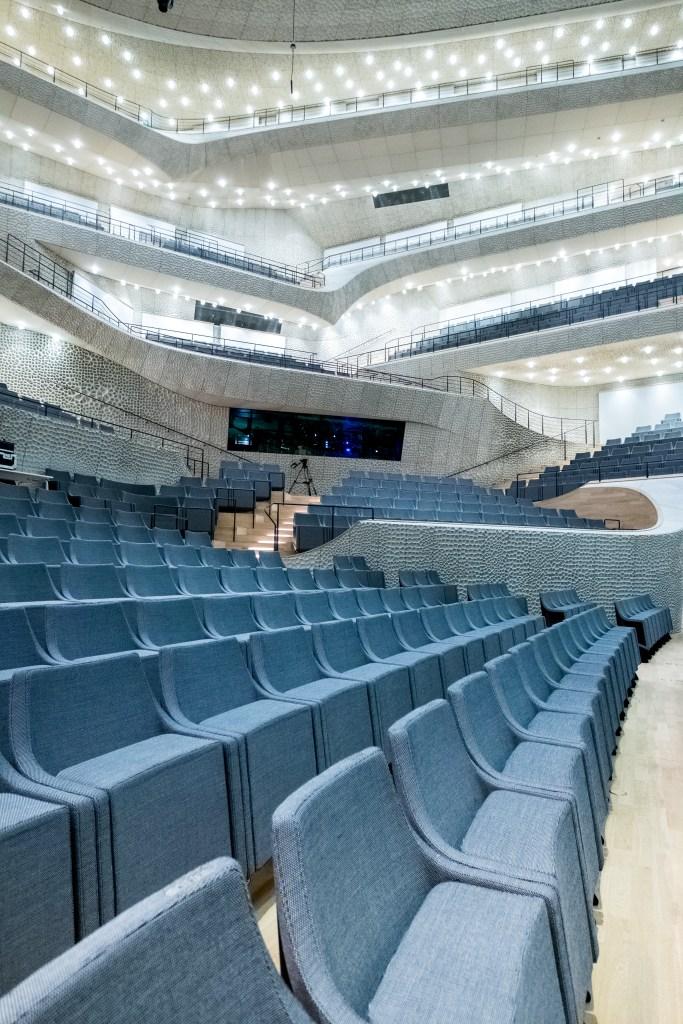 Die bequeme Bestuhlung der Elbphilharmonie