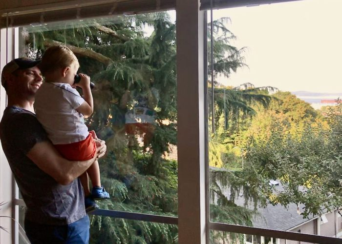 Taking in the view in Queen Ann, Seattle