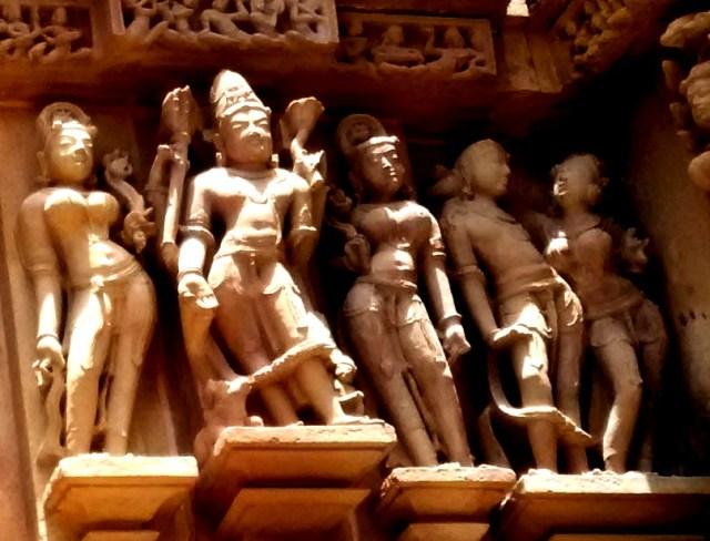Beautiful sculptures at Khajuraho temples
