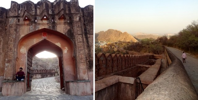 Path from Amer fort to Jaigarh fort