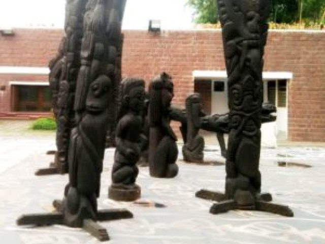 Bharat Bhawan wood art