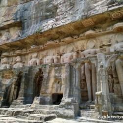 jain temples sculptures gopachal Parvat gwalior