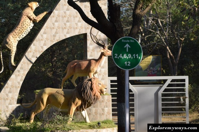 Entry point of Gir National Park