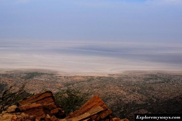 white desert view from Kalo dungar hill top