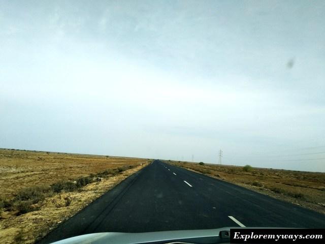 Bhuj to white desert road
