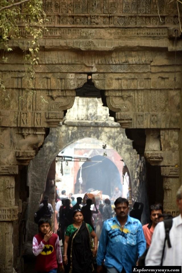 Decorative gates at Uparkot fort of Junagarh