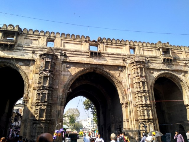 Teen Darwaza an important monument of Ahmedabad