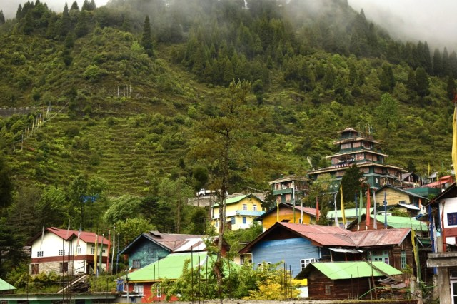 Lachung village in North Sikkim