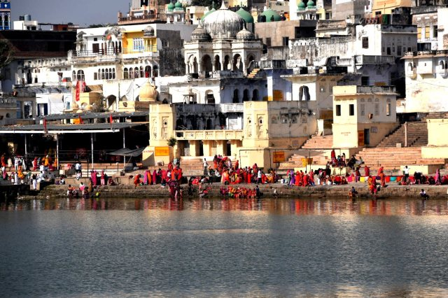 sacred Pushkar lake
