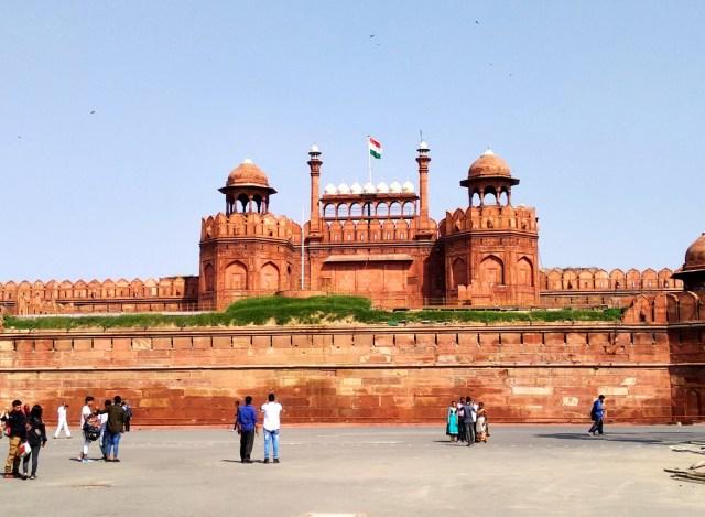 Indian flag on Red Fort of Delhi