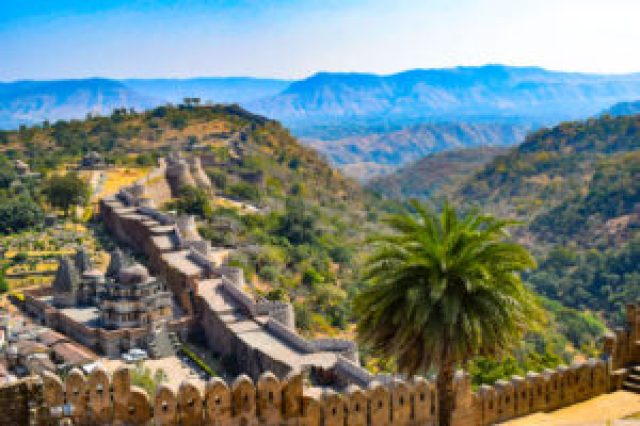 Largest wall of India at Kumbhalgarh Fort