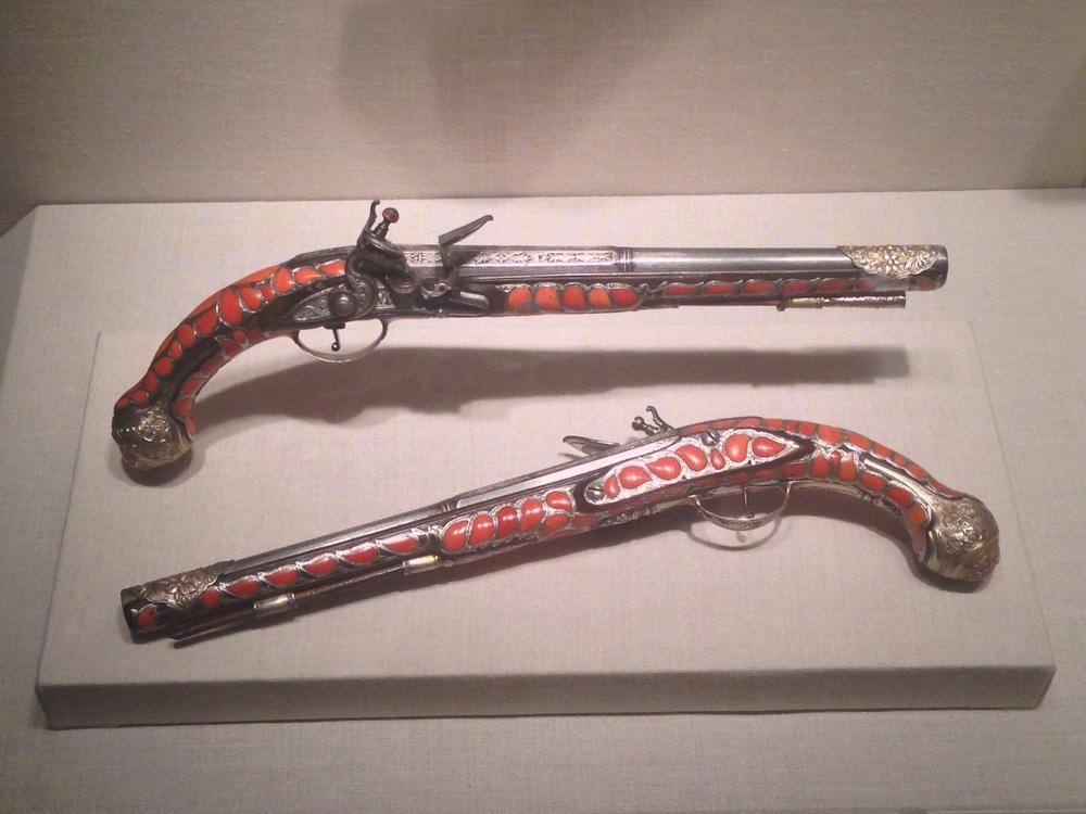 19th century Algerian flintlock pistols