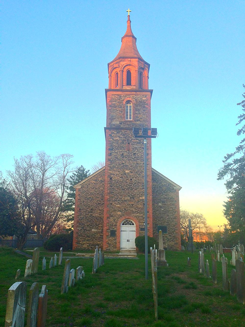 St Paul's Church, built in 1764 located in today's Mount Vernon, NY..  It was called the Church of Eastchester until 1795.