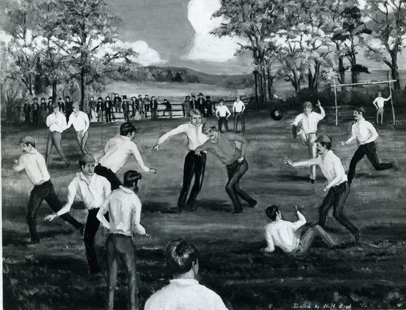 Painting of the match by Rutgers graduate William Boyd