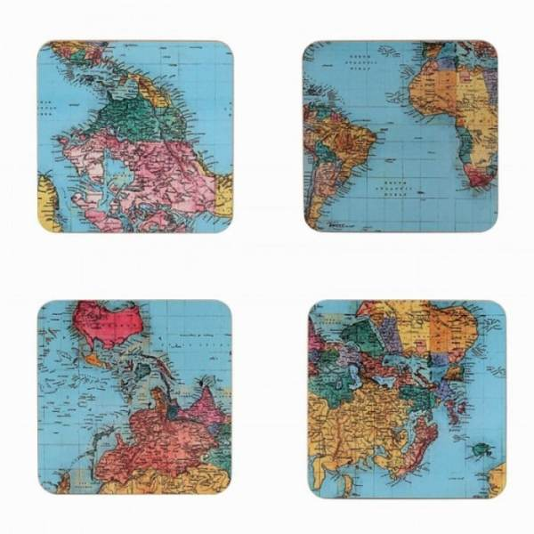 World Traveller Coasters Set of 4