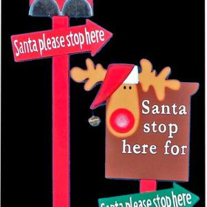 Santa Please Stop Here Outdoor Sign