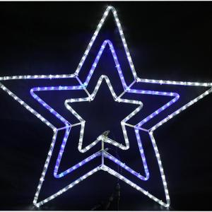 144 Blue & White LED Christmas Star Rope Light, 80 x 80cm