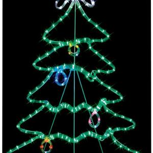 Free Standing Christmas Tree LED Rope Light – 88cm