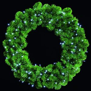 140 LED Multi-Action Wreath Lights Warm White – 3.5m