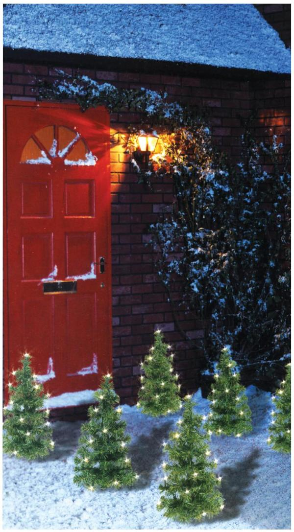 Pre-Lit Christmas Tree Pathway Lights, 6 Pack
