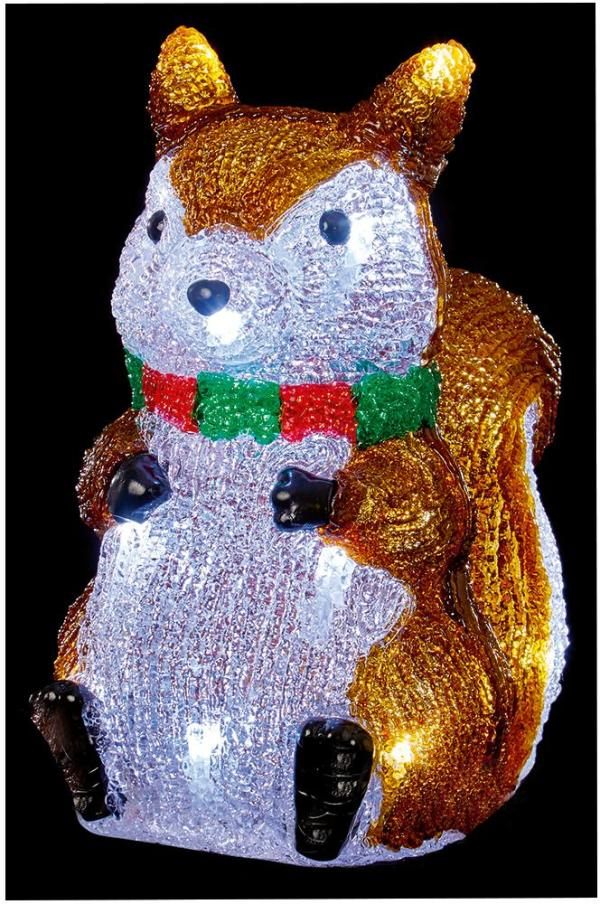 25cm Acrylic Squirrel with 20 LEDs and Timer