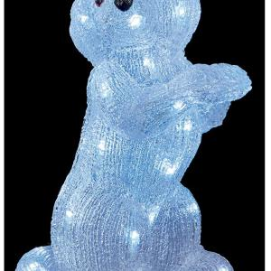 35cm Christmas LED Acrylic Dog