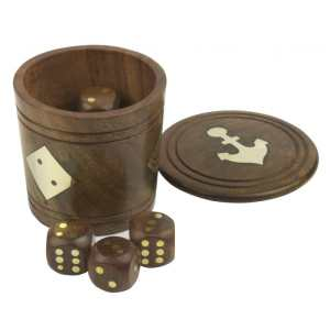 Naval-style Dice Shaker & Dice