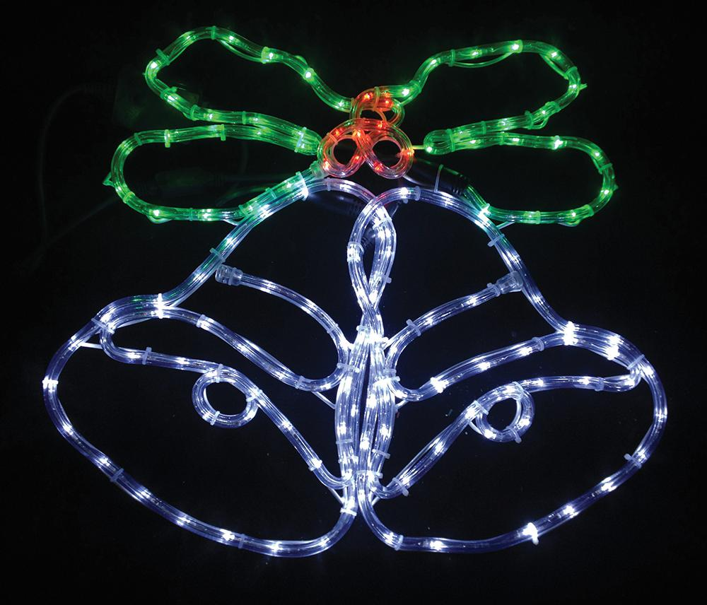 62cm Bells and Holly Rope Light