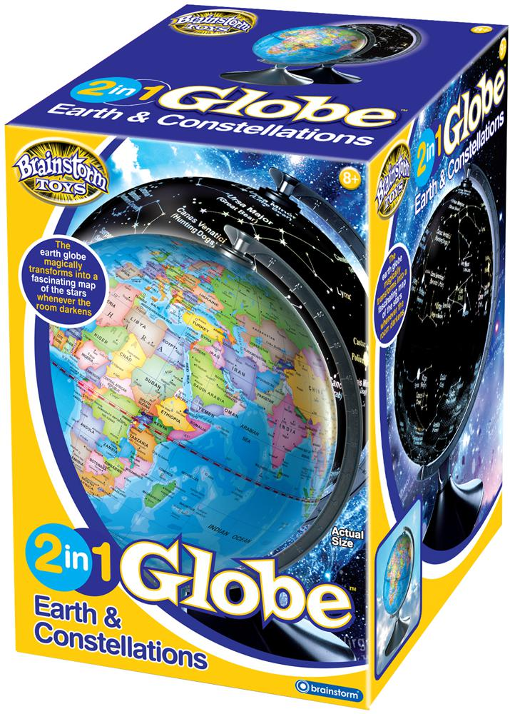 2-in-1 Globe Earth and Constellations