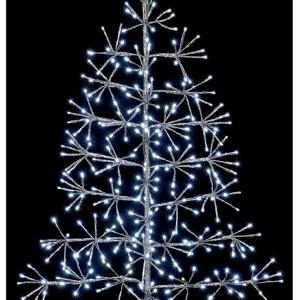 60cm Silver Starburst Tree with White LEDs