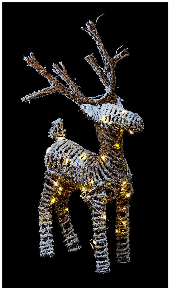 LED Christmas Rattan Reindeer Decoration