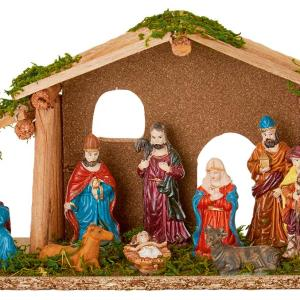 25cm Wooden Christmas Nativity Scene