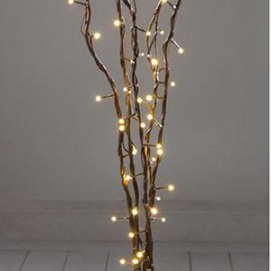 LED Christmas Twig Light Decorations, 1.2m Dark Brown