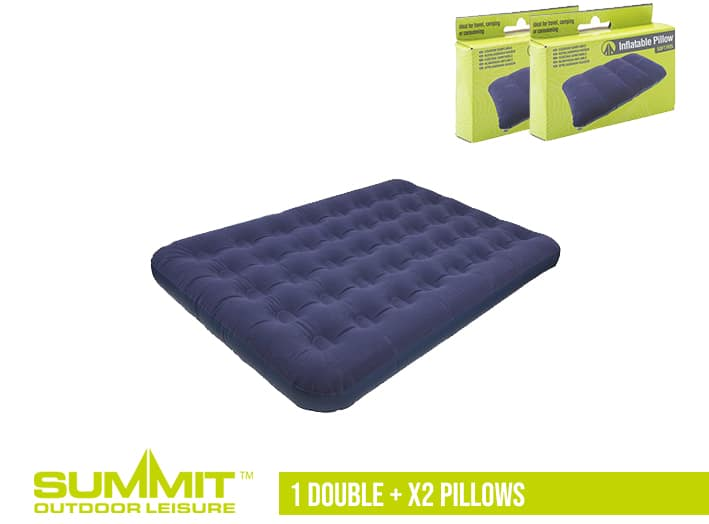 Summit Camping Bed Package 2 – 1x Double Bed / x2 Pillows