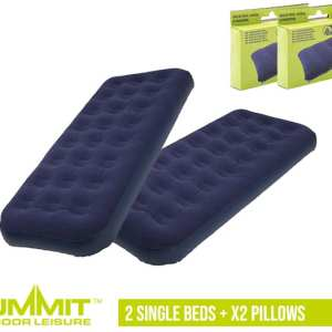 Summit Camping Bed Package 3 – 2x Single Beds / x2 Pillows