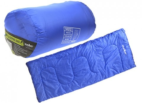 Summit Envelope Therma Sleeping Bag 250gsm – Blue