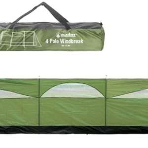 Summit 3 Panel Wind Screen 150 x 500cm Forest Green